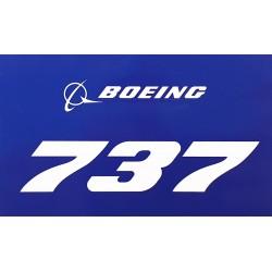 Boeing 737 Blue Sticker