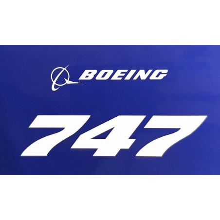 Sticker Boeing 747 Blue