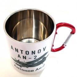 Metal carabiner mug Antonov...