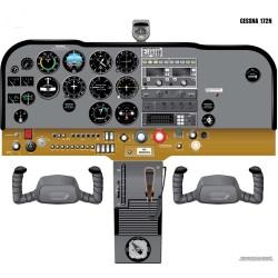 Cessna 172N Cockpit...