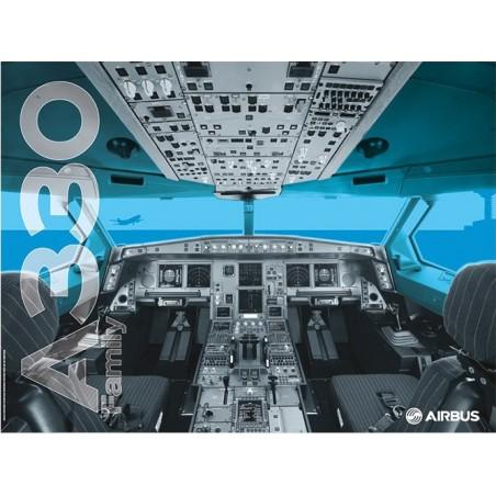 A330 cockpit poster