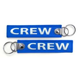 Breloc brodat CREW -...