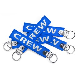 CREW Embroidered Keyring -...