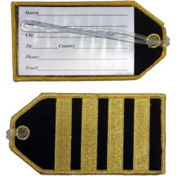 Captain (4 Stripes) Bag Tag