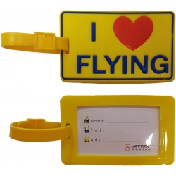 I Love Flying Rubber Tag