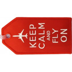 Keep Calm and Fly On Bag Tag