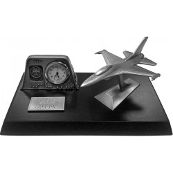 F16 Falcon Desk Top Clock
