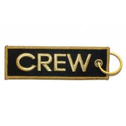 Breloc brodat CREW (auriu)