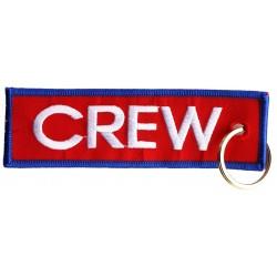 Breloc brodat CREW (rosu)