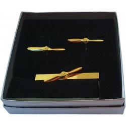 Propeller Cufflink and Tie...