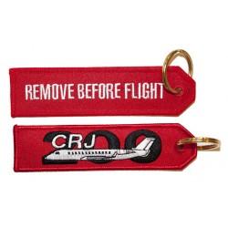 Breloc brodat CRJ200 RBF