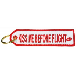 Kiss Me Before Flight Keyring