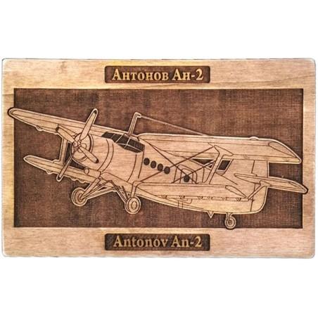Wooden plaque Antonov An-2