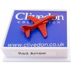 Red Arrow Pin Badge Red 3D