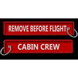 Breloc brodat Cabin Crew -...