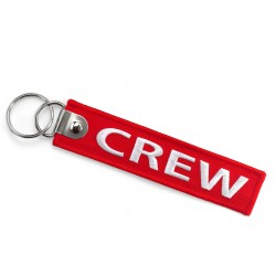 Breloc brodat CREW - Rosu...