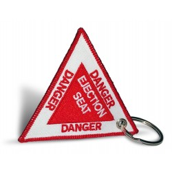 Breloc brodat Danger -...
