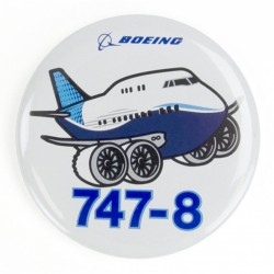 Boeing 747-8 Pudgy Button