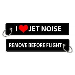Breloc brodat I Love Jet...