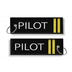 Breloc brodat Pilot (2 Trese)