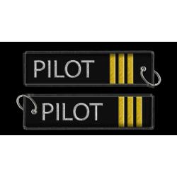 Breloc brodat Pilot (3 Trese)