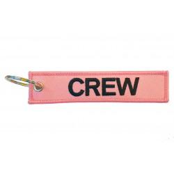 Breloc brodat CREW - Roz
