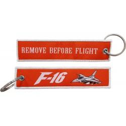 Breloc brodat F16 RBF