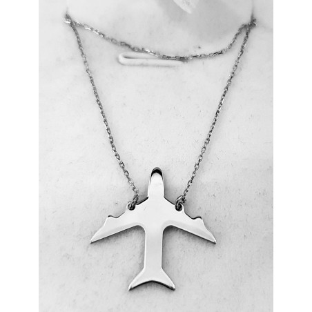 Necklace with Plane Pendant