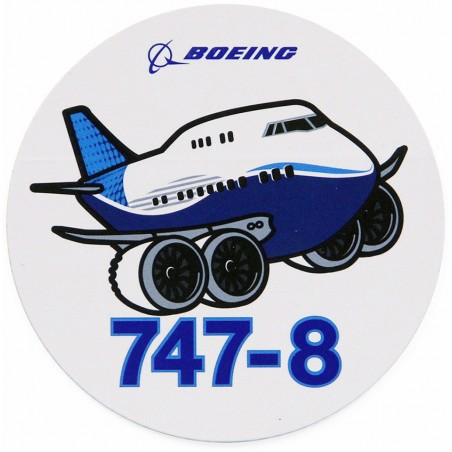 Boeing 747-8 Pudgy Sticker