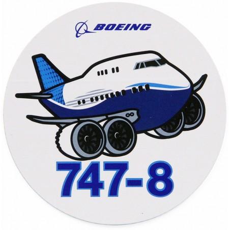 Sticker Boeing 747-8 Pudgy