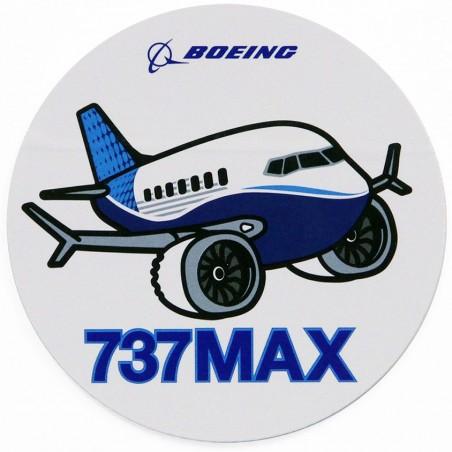 Boeing 737 MAX Pudgy Sticker