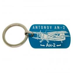 Engraved aluminium keyring...
