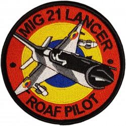 Emblema brodata MiG 21...