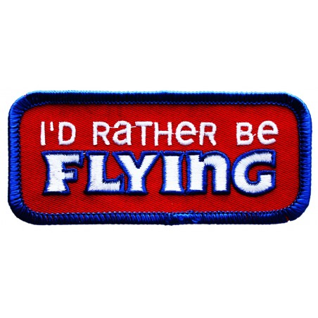Id Rather Be Flying Applique