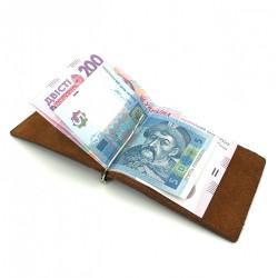 Clip de bani din piele